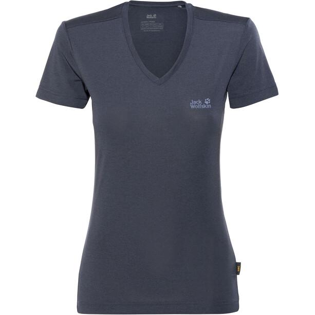 Jack Wolfskin Crosstrail T-Shirt Femme, bleu
