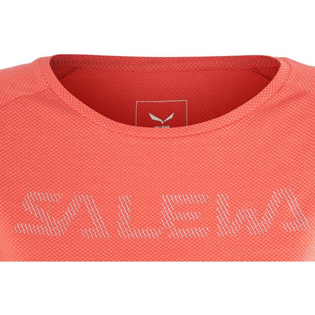 SALEWA Pedroc Delta Dry Kurzarm T-Shirt Damen delta hot coral