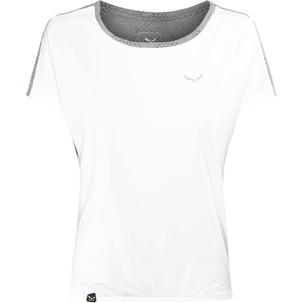 SALEWA Puez Hybrid Dry Lyhythihainen T-paita Naiset, valkoinen