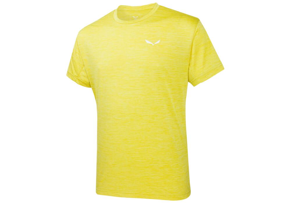 salewa puez melange dry t shirt manches courtes homme jaune sur. Black Bedroom Furniture Sets. Home Design Ideas