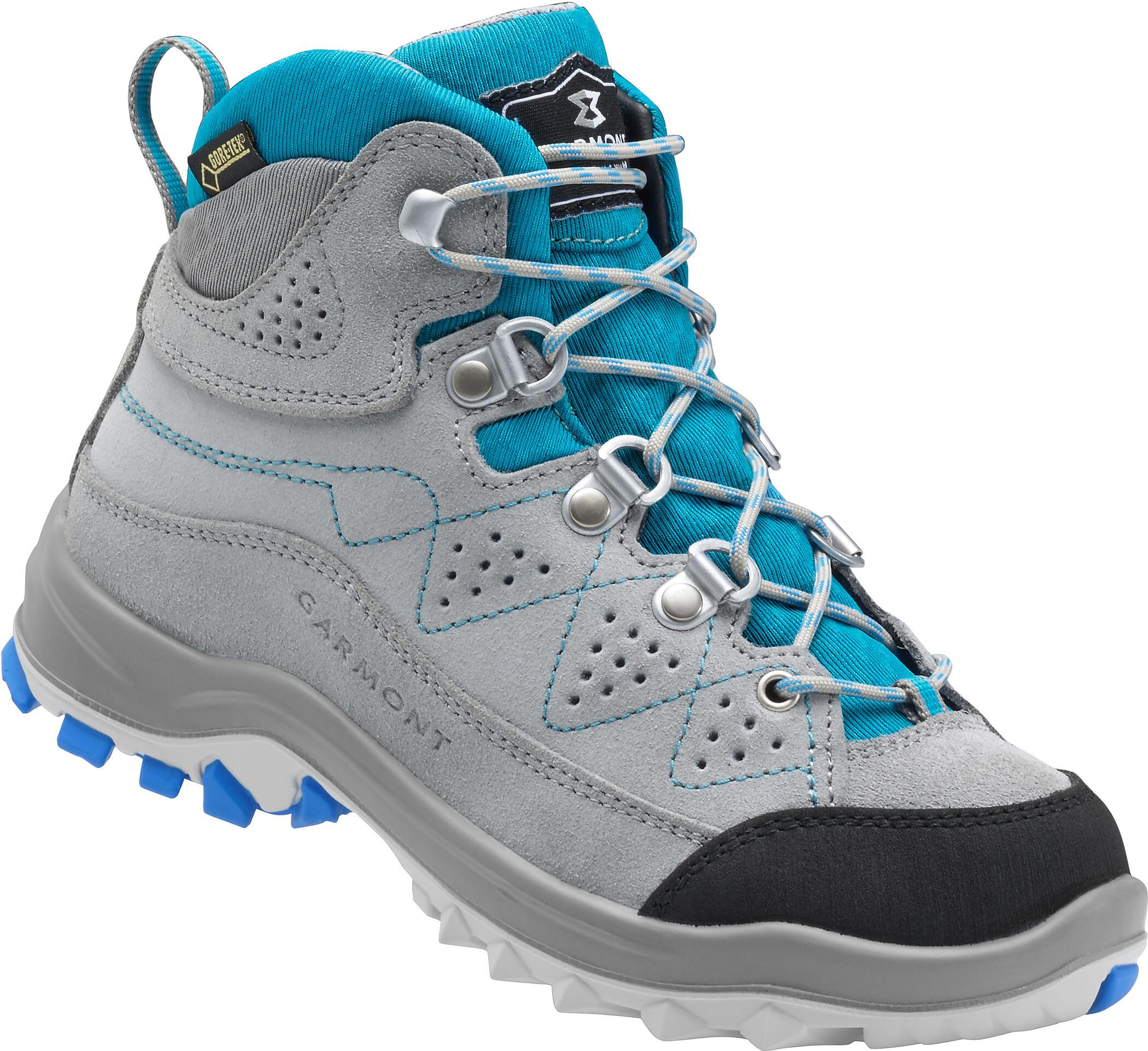 online store 3528d b2463 Garmont Escape Tour GTX Shoes Kids grey aqua blue.jpg