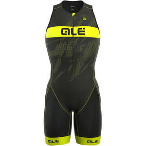 Alé Cycling Triathlon Long Record Tri Body Front-RV Herren black-fluo yellow black-fluo yellow