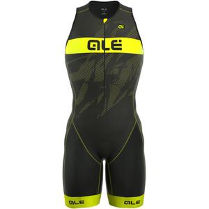 Alé Cycling Triathlon Long Record Tri Body Front Zipper Herren black-fluo yellow black-fluo yellow