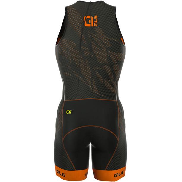 Alé Cycling Triathlon Olympic Record Tri Body Rücken-RV Herren black-fluo orange