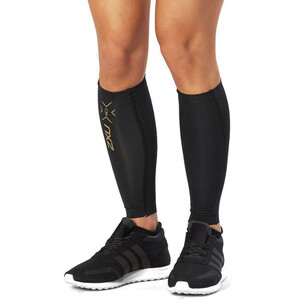 2XU Elite MCS Compression Calf Guards black/gold black/gold