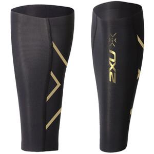 2XU Elite MCS Compression Calf Suojat, musta/kulta musta/kulta