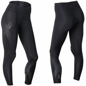 2XU Mid-Rise Compression Tights Damen schwarz schwarz