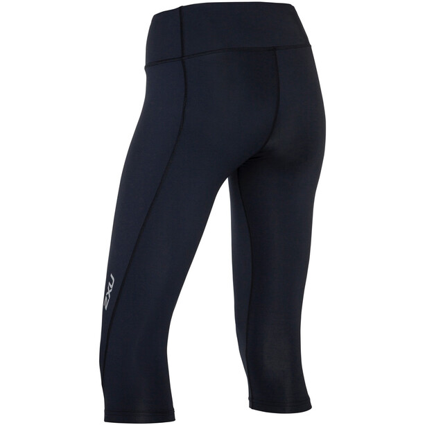 2XU Mid-Rise Compression 3/4 Tights Damen black/dotted reflective logo