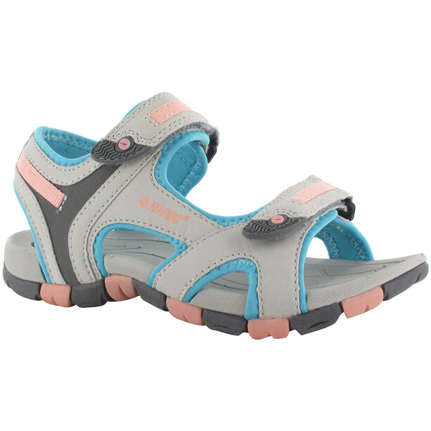 Hi-Tec GT Strap Sandalen Kinder cool grey/curacou blue/ papaya punch