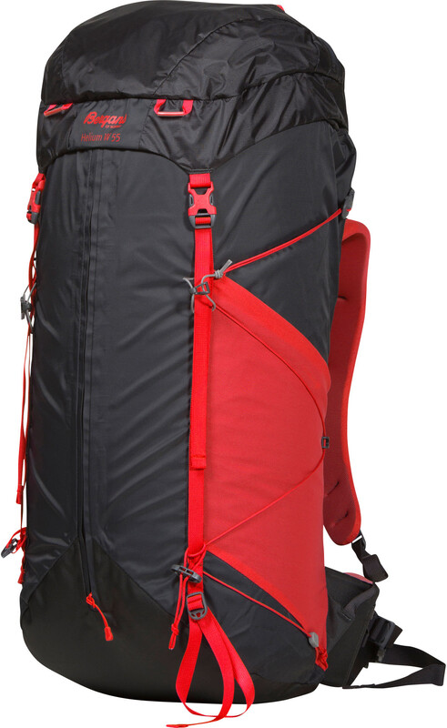 Bergans Helium 55 Backpack Women Solid Charcoal/Red  2018 Wander- & Trekkingruck