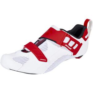 Bontrager Woomera Triathlonschuhe Herren white/red white/red