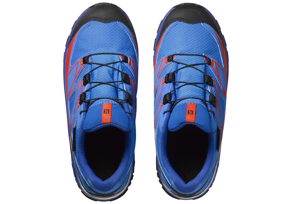 salomon wings cswp chaussures de running enfant bleu. Black Bedroom Furniture Sets. Home Design Ideas