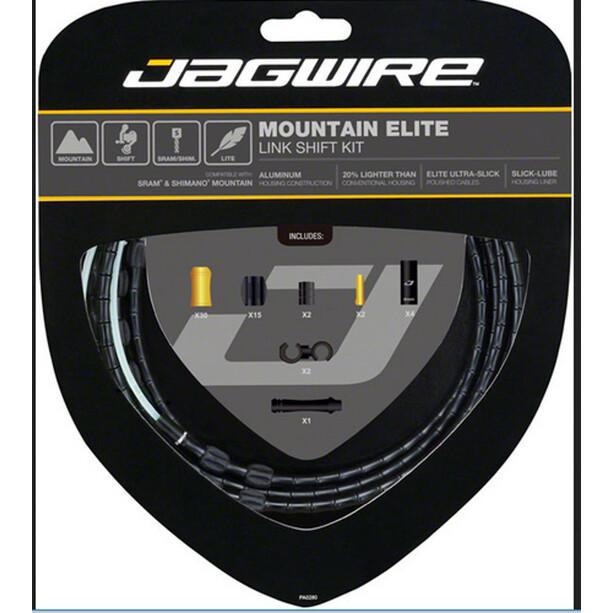 Jagwire Mountain Elite Link Shift Cable Set black