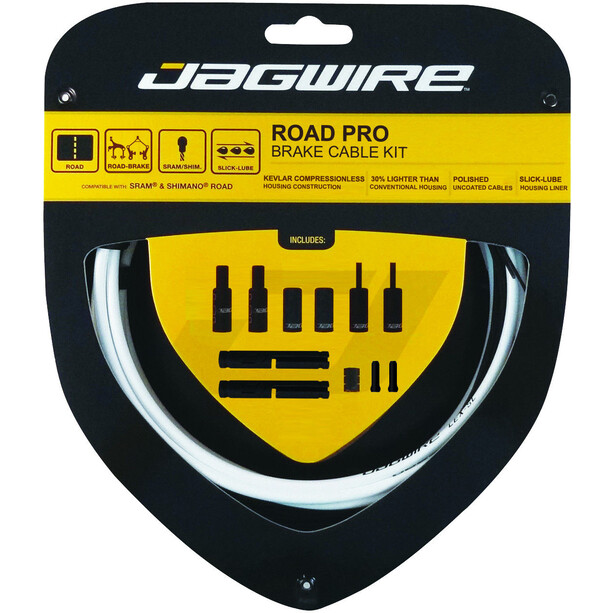 Jagwire Road Pro Brake Cable Kit white
