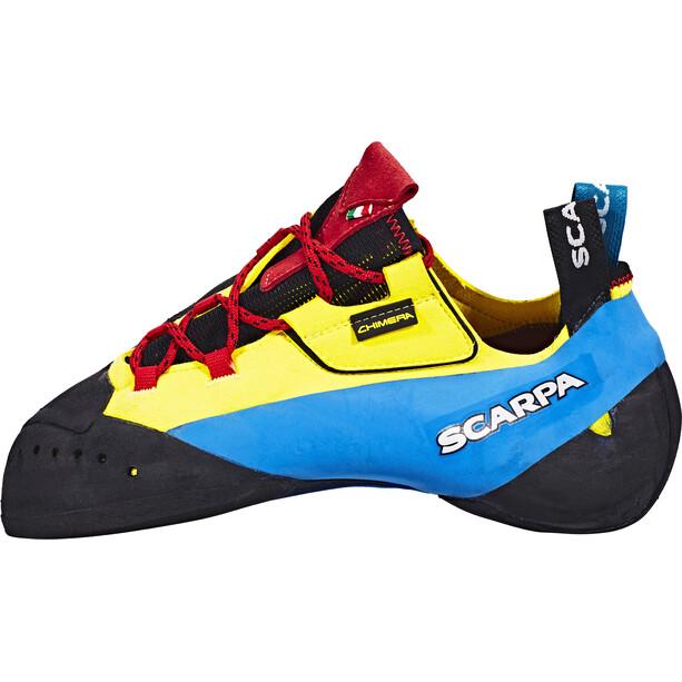 Scarpa Chimera Chaussons d'escalade, jaune/bleu