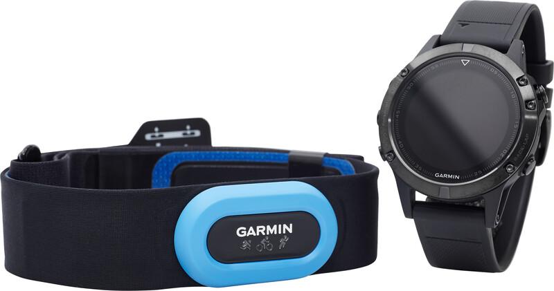 fenix 5 Saphir GPS Uhr Performer Bundle / Premium HRM-Tri Brustgurt + QuickFit black 2018 Triathlon Zubehör