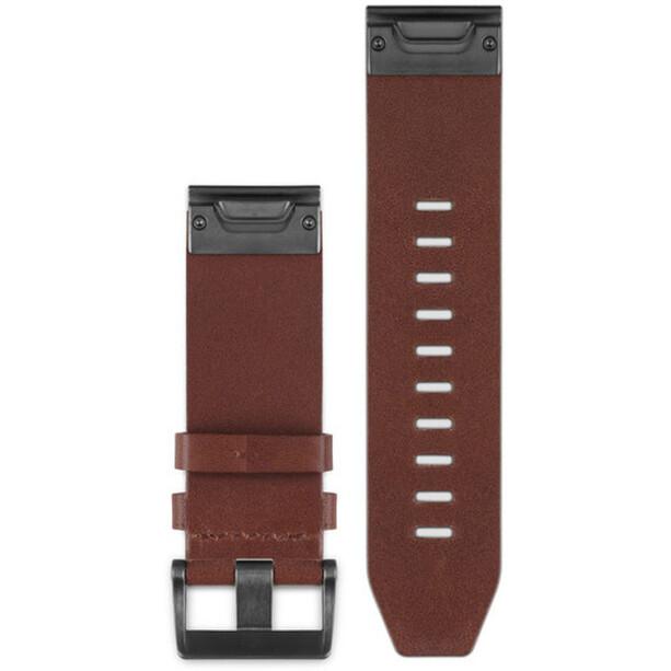 Garmin fenix 5x/3 Lederarmband QuickFit 26mm brown