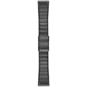 Garmin fenix 5x/3 Metall Uhrenarmband QuickFit 26mm grey grey