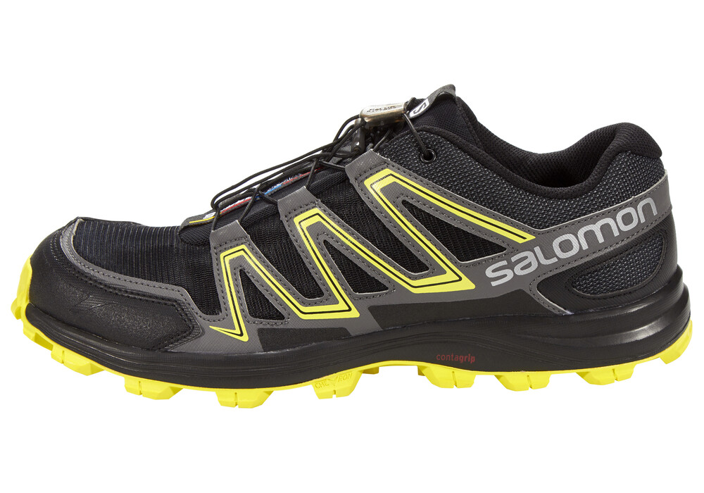 salomon speedtrak chaussures running homme jaune noir sur. Black Bedroom Furniture Sets. Home Design Ideas