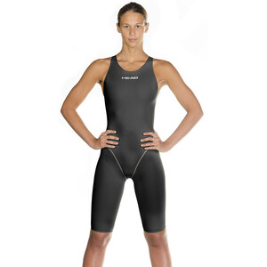 Head Liquidfire Power Open Back Knee Suit Damen black/silver black/silver