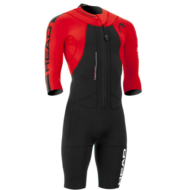 Head Swimrun Rough Shorty Suit Herren black-red