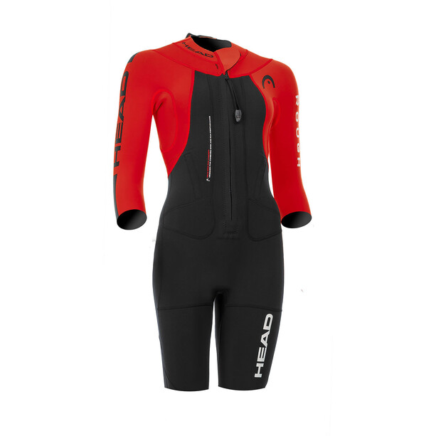 Head Swimrun Rough Shorty Anzug Damen black-red