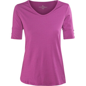 Royal Robbins Merinolux Camiseta Cuello en V Mujer, rosa rosa