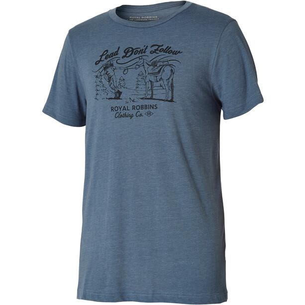 Royal Robbins Lead Don'T Follow T-shirt Homme, bleu