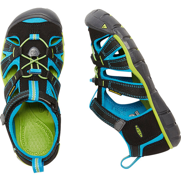 Keen Seacamp II CNX Sandals Barn black/blue danube