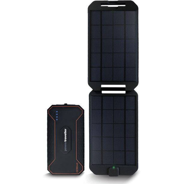 Powertraveller Extreme Charger 12000mAh + Solar black