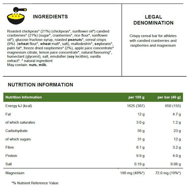 PowerBar Natural Energy Cereal Bar Box 24x40g Himbeere Crisp
