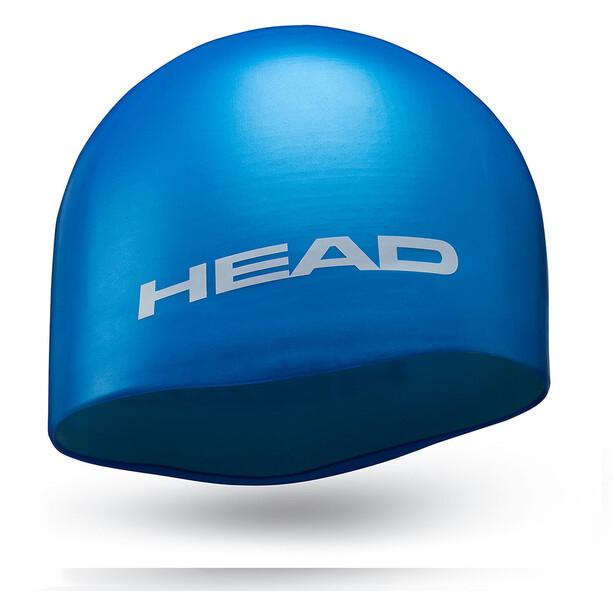 Head Silicone Moulded Swimcap light blue