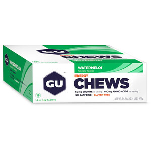 GU Energy Chews Box 18 x 54g Wassermelone