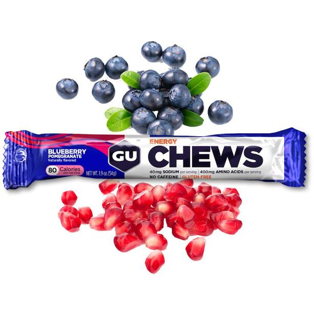 GU Energy Chews Box 18 x 54g Blaubeere-Granatapfel