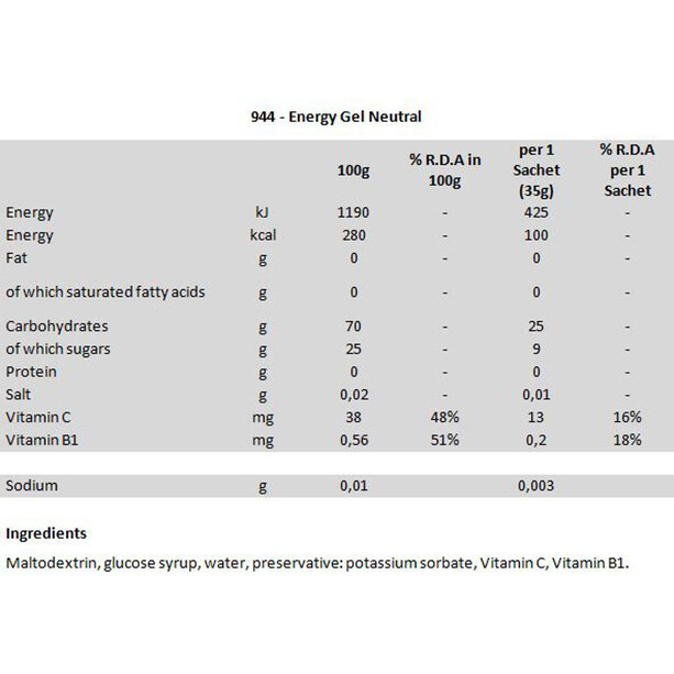 Isostar Energy Gel Box 24x35g Neutral