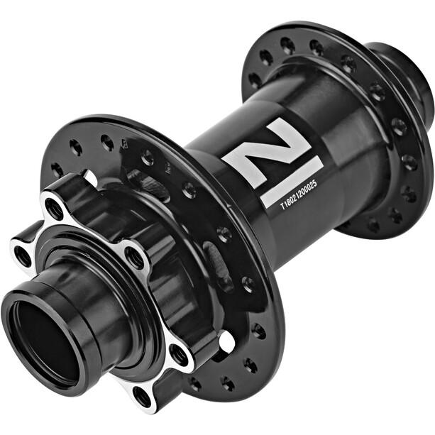 Novatec Downhill Front Wheel Hub 20mm MTB Disc Thru Axle, musta