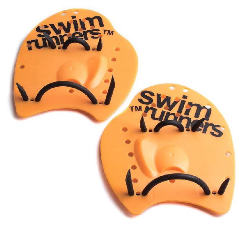 Swimrunners Go The Distance Hand Paddles orange/black M 2019 Swimrunutrustning