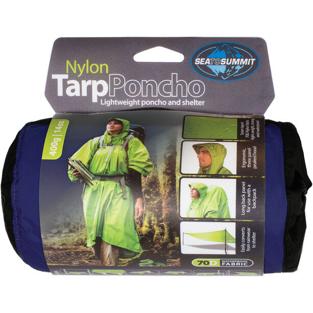 Sea to Summit Nylon Tarp Poncho Waterproof blue
