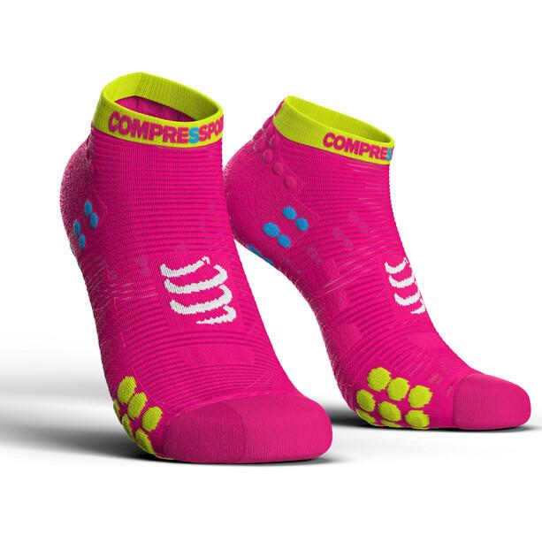 Compressport Pro Racing V3.0 Run Low-Cut Socken fluo pink