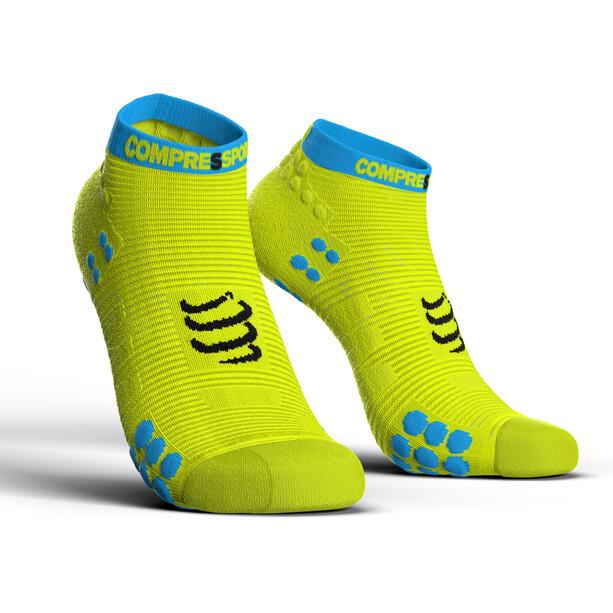 Compressport Pro Racing V3.0 Run Chaussettes Basses, jaune