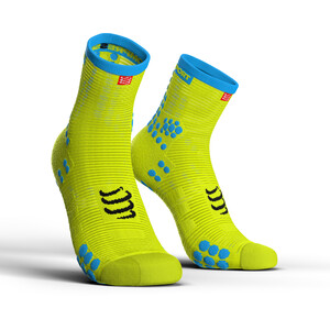 Compressport Pro Racing V3.0 Run High-Cut Socken fluo yellow fluo yellow