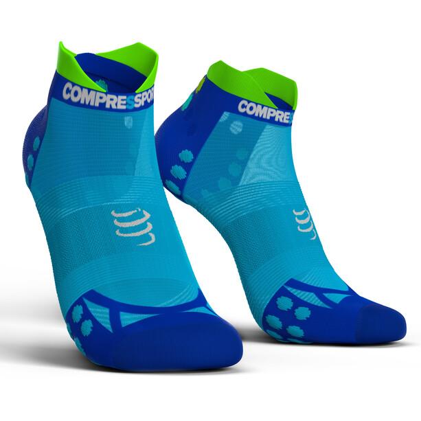 Compressport Pro Racing V3.0 UItralight Run Low Socken fluo blue