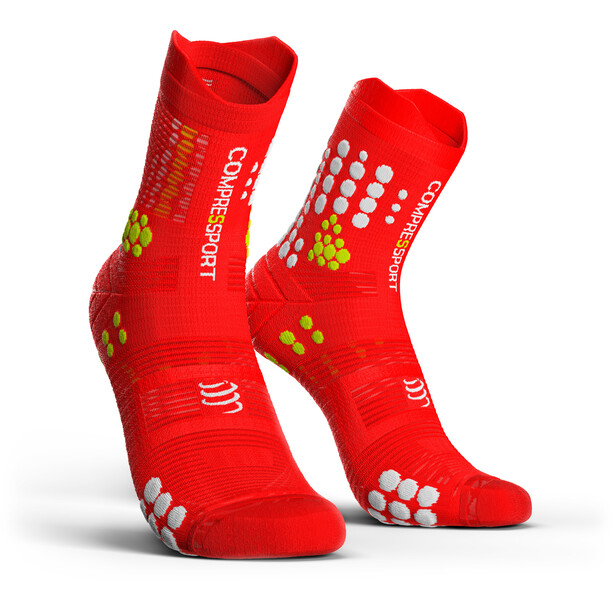 Compressport Pro Racing V3.0 Trail Socken red/white