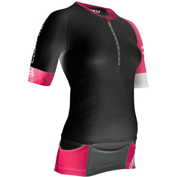 Compressport TR3 Aero Triathlon Top Damen schwarz