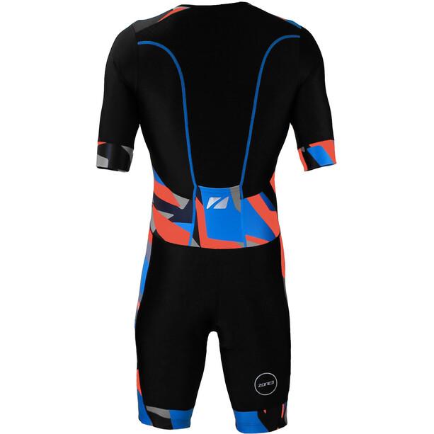 Zone3 Activate+ Kurzarm Trisuit Herren schwarz/blau