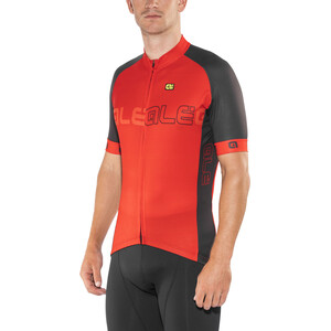 Alé Cycling Solid Block Kurzarm Trikot Herren red-black red-black