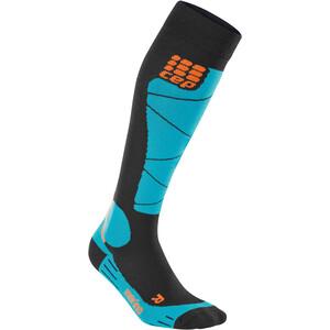 cep Ski Merino Socken Damen black/azur black/azur
