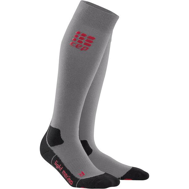 cep Pro+ Outdoor Light Merino Socken Damen grau