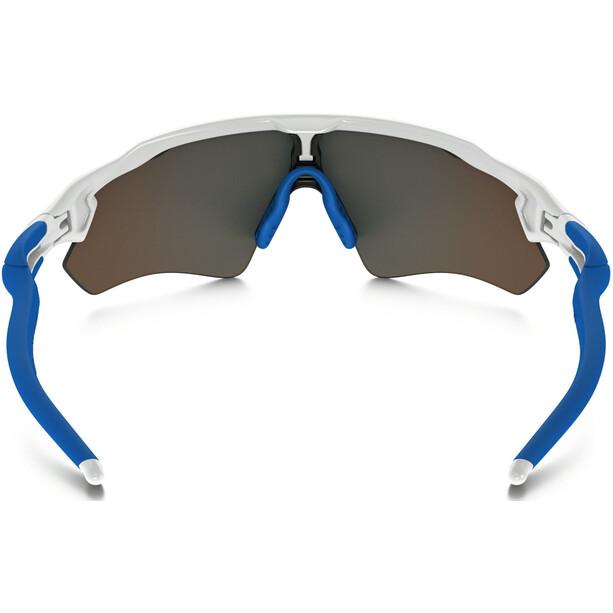 Oakley Radar EV XS Path Sonnenbrille Jugend polished white/sapphire iridium
