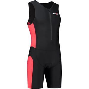 Dare2Tri Frontzip Trisuit Herren black-red black-red